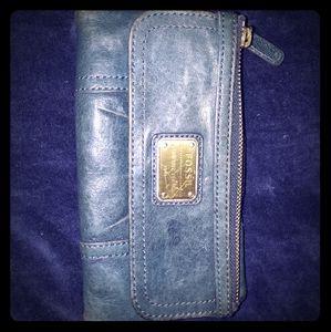 Fossil Denim blue leather wallet 7x4
